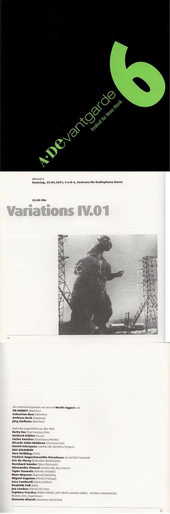 A*DEvantgarde Festival Nr. 6 - Mit Variations Konzert