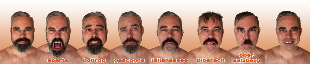 Dekonsruktion eines Bartes - gesamt