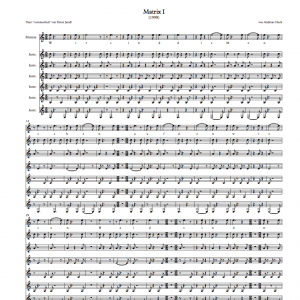 Matrix I - Ansicht Partitur